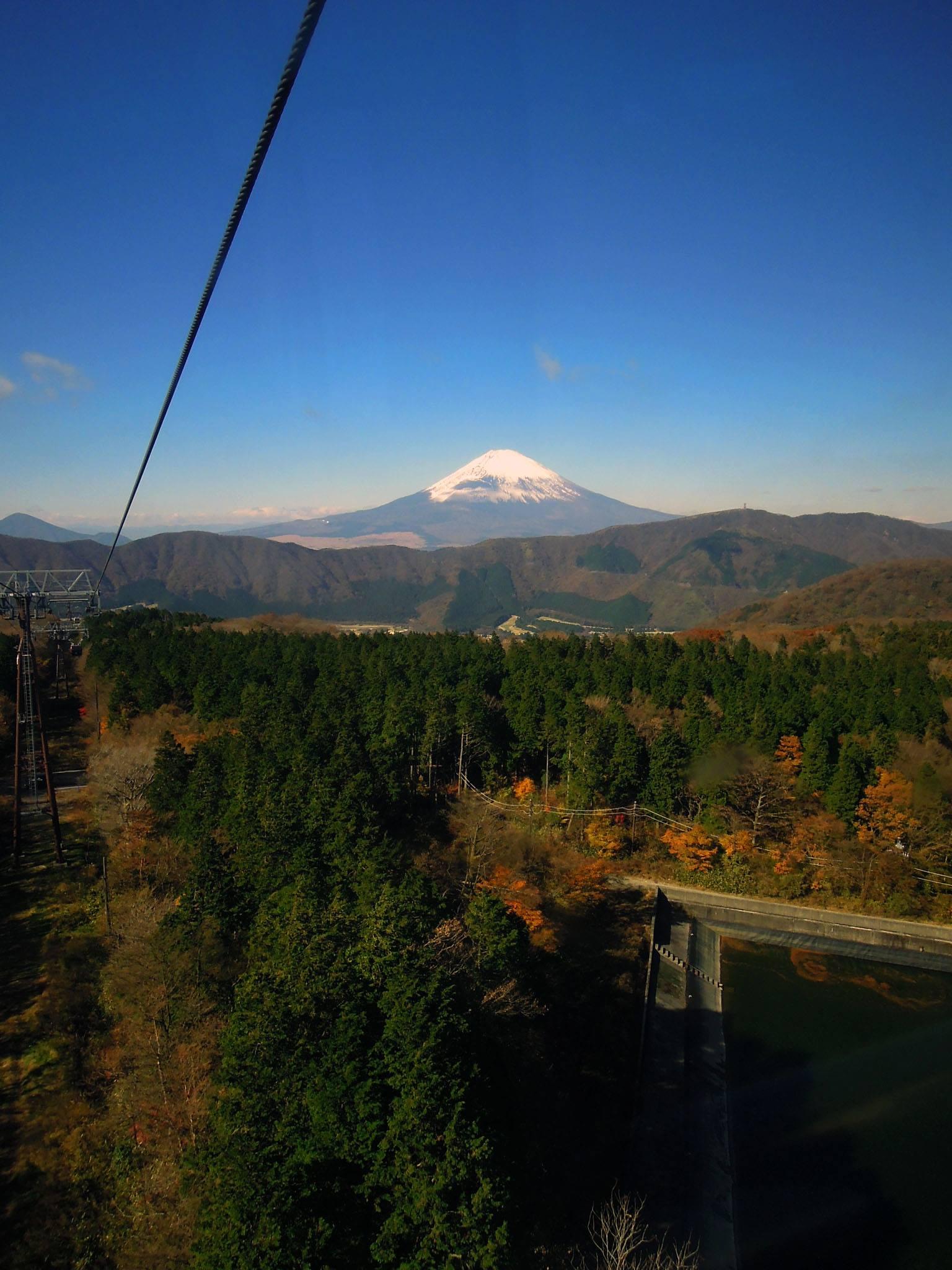 ロープウェイからの富士山